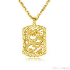 long necklace chain wholesale images Wholesale fly dragon pattern pendant necklace chain 18k yellow jpg