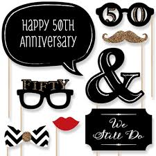 50th anniversary party photo booth props kit 20 count