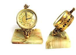 Mantel Clocks Antique Vintage Marble Mantel Clock Antique A Zeta San Marino Ornate