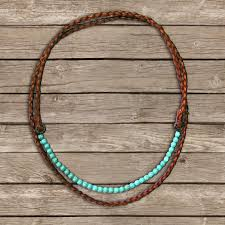 leather turquoise necklace images Boho leather necklace turquoise necklace leather wrap necklace jpg