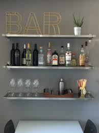 home bar shelves 25 small space hacks to make your modest home feel a whole lot