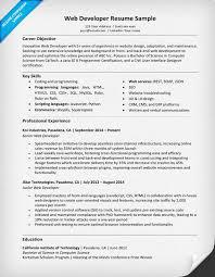 web developer resume web developer resume sle writing tips resume companion