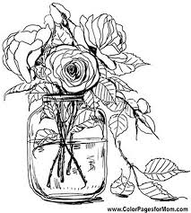 floral colouring pages funycoloring