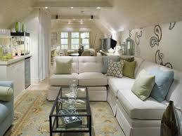 Family Room With Sectional Sofa Small Loft Family Room Decor With Sectional Sofa Also Wall Decals