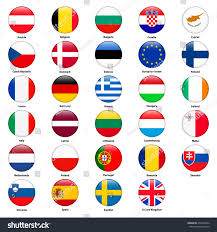 Flag Of All Countries All Flags Countries European Union Round Stock Vector 472320592