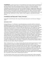 landscape writing paper feminism in literature ecofeminism feminism