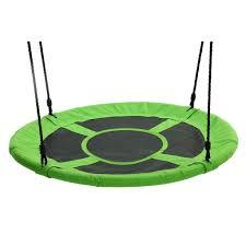 giant 40 u2033 saucer swing green large outdoor tree swings for kids