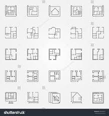 house plan symbols house plans icon set vector home stock vector 605530043 shutterstock