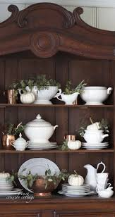 french country cottage simple autumn home tour white dishware