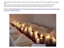 Wedding Candle Centerpieces Wedding Candle Centerpieces