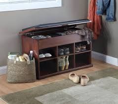 Entryway Shoe Storage Shoe Rack Bench Storage For Entryway With Cushion Hallway Seat