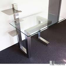 bureau de direction en verre bureau de direction design en verre et inox brossé essentia mobilia