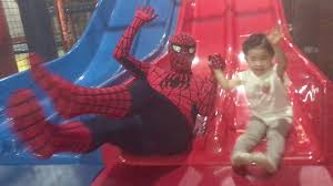 indoor playground family fun with spider man kids play area youtube