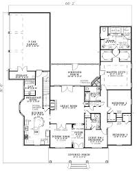 2500 sq ft one level 4 bedroom house plans first floor plan of