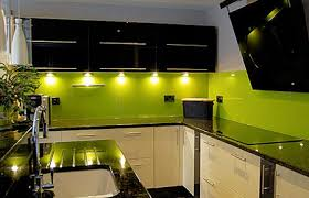 Green Kitchen Designs Kitchens With Green Walls Cabinets Tiles Walls Splash Back In