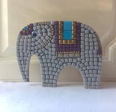 mosaic craft kit elephant kids crafts diy gift from