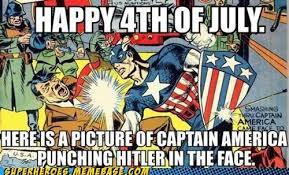 4 Of July Memes - nothing like a hitler captain america fight to brighten your day