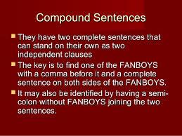 simple compound complex sentences review quiz