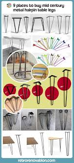 27 inch table legs 12 places to buy metal hairpin table legs raw steel stainless
