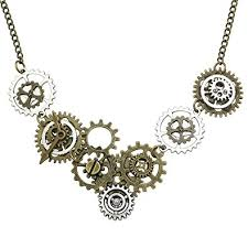 steampunk necklace vintage images Q q fashion vintage gold silver watch clock jpg