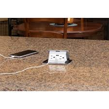 Kitchen Outlet by Lew Electric Pufp Ct Bk 2usb Kitchen Pop Up 15a Charging Usb