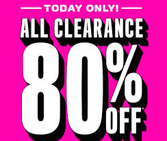 80 clearance items free shipping on all orders at