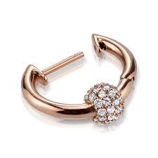 ear ring images diamond sphere hoop earring the last line