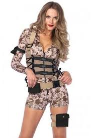 Army Costume Halloween Womens Surrender Army Costume Dance Army