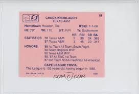 1988 ballpark cape cod league prospects base 15 chuck