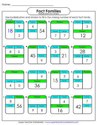 number family worksheets multiplication and division