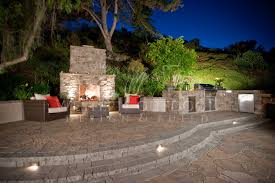 Outdoor Island Lighting Veneer Bbq Islands Outdoor Kitchens Gallery Western Outdoor
