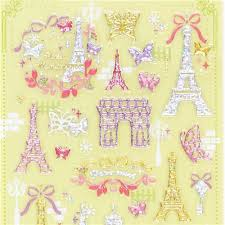 eiffel tower wrapping paper washi modes