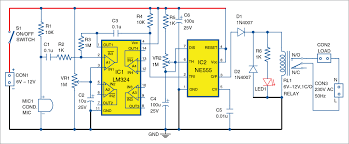 On Off Timer Circuit Diagram Sound Operated Timer Full Circuit Diagram With Explanation