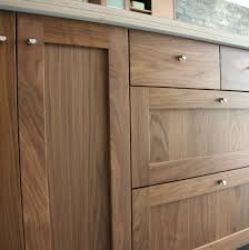 detail shot of semihandmade walnut shaker ikea kitchen