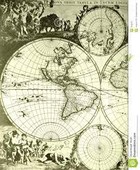 Vintage World Map by World Map Old Antique Stock Image Image 7048751