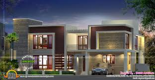 contemporary house with double height living kerala home design