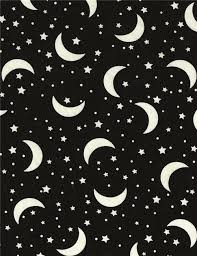 black grey fabric with glow in the moon and by