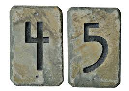 American Craftsman Ranch Stone American Craftsman Mission House Address Numbers Slate