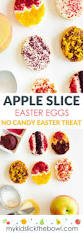 healthy easter treat apple slice easter eggs my kids lick the bowl