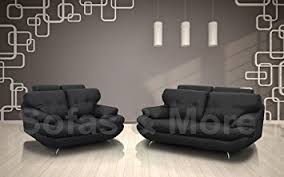 3 Seater And 2 Seater Sofa Brand New Sandy 3 2 Seater Sofa Set Faux Leather Black