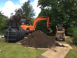 Flagging Liverpool Septic Tank Sewage Treatment Plant Installation In Magull Near