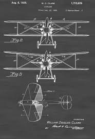 curtiss scout airplane patent print airplane blueprint vintage