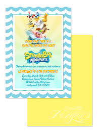 design classic spongebob birthday party invitation templates