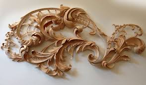 rococo wood carving by master wood carver grabovetskiy