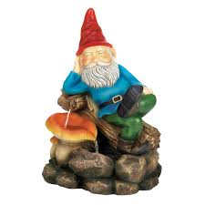 Home Decor Fountain Relaxing Gnome Water Fountain Wholesale At Koehler Home Decor