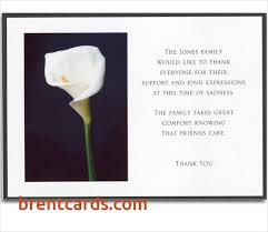 bereavement thank you cards thank you notes for bereavement cards best of 6 bereavement thank