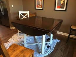 Painted Kitchen Tables And Chairs by Refreshing Update To Our Tired Kitchen Table Hometalk