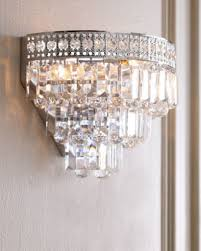 Crystal Wall Sconce by Possini Glitz Crystal Chrome 8 1 2