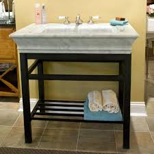 carrara marble console sink modern console vanity with carrara marble sink top ideas for the