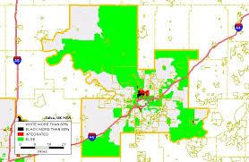 map of tulsa black white housing patterns in tulsa